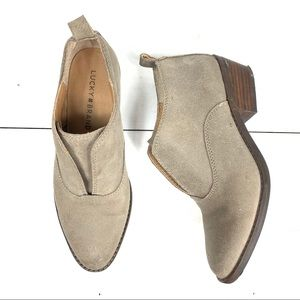 Lucky Brand Beige ankle booties S-6M